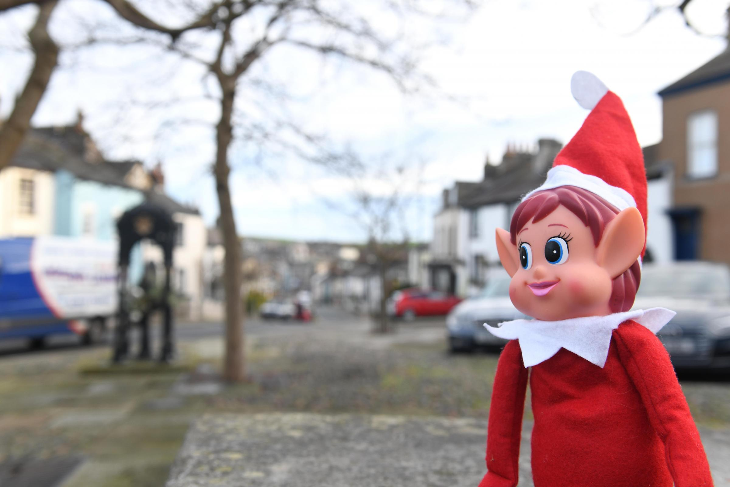 GUESS: Can you guess where Elfis is playing out today? Yesterday he was at Millom Castle
